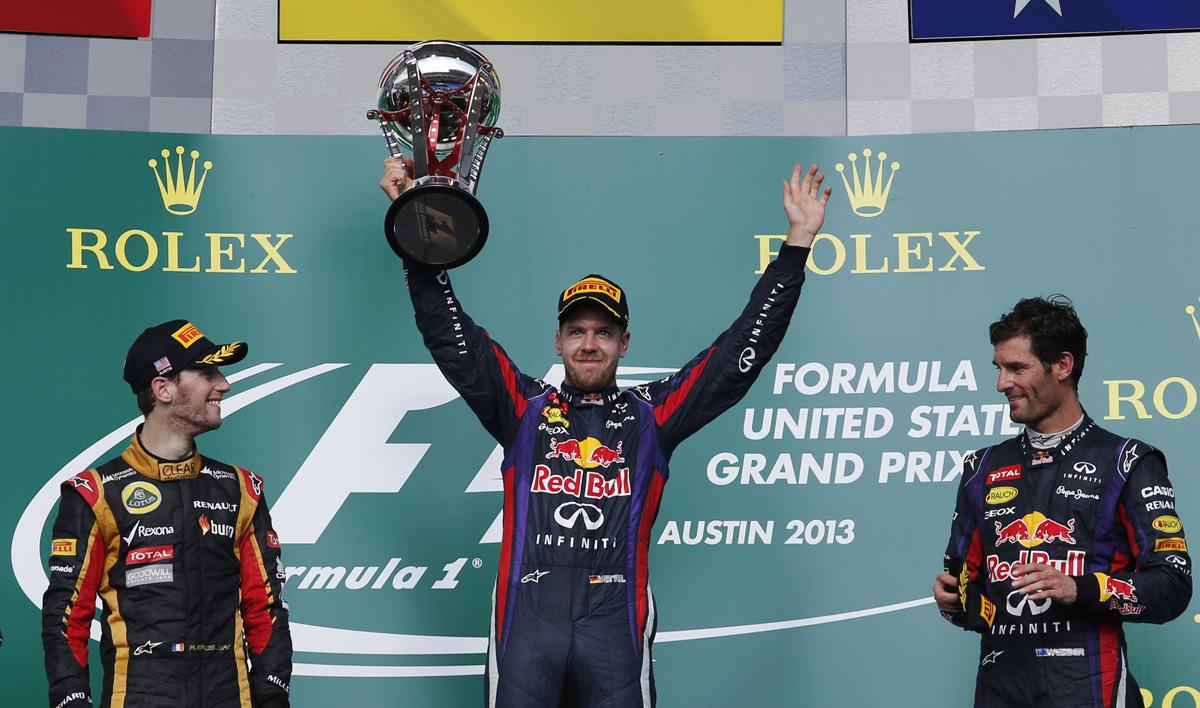 Formel 1 - GP USA 2013, Podest