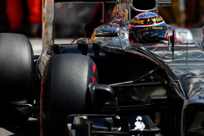 Formel 1, GP Monaco 2014, Jenson Button on track.