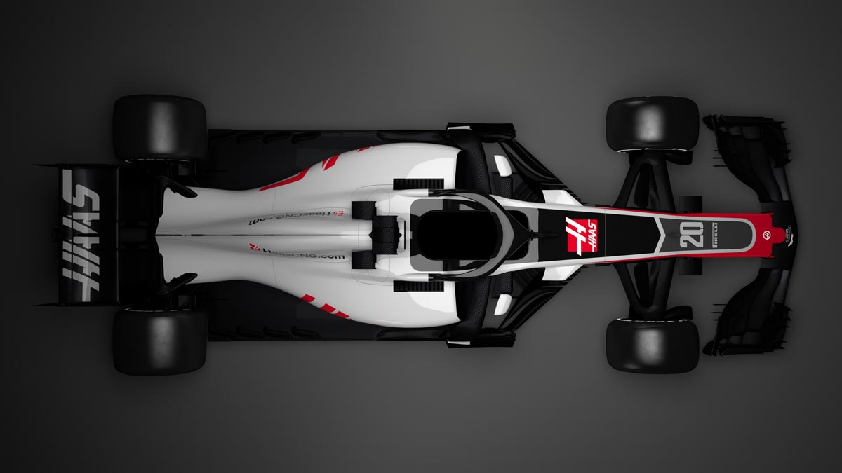 Haas F1 VF18 TOP