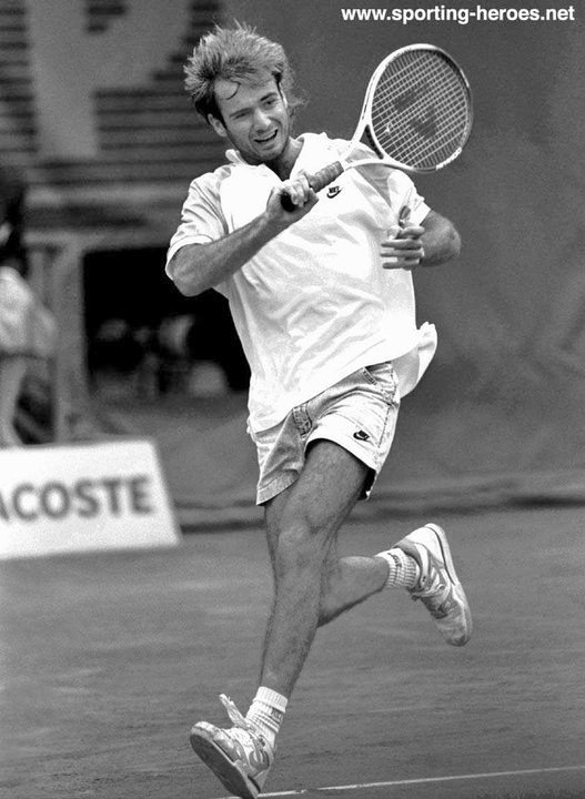 Andre Agassi French Open 1990 Runner Up USA