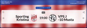 Read more about the article Sporting P12 pelaa tänään 22.6 Kristiinakentällä klo 19.00. Sporting – VPS-j/10