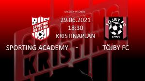 Läs mer om artikeln Sporting Academy – Töjby FC 29.06.21