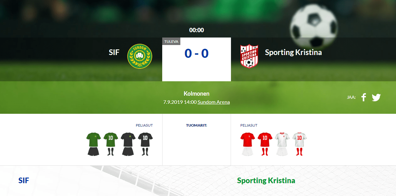 Read more about the article SIF – Sporting Kristina 0-0 (0-0)