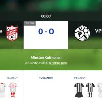 Sporting Kristina - VPS Akatemia 03.10.2020 14:00