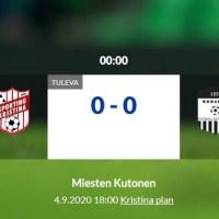 Sporting Kristina Academy - Korsnäs FF 2. Fredag 4.9 Kl. 18.00