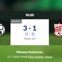 VPS Akatemia - Sporting Kristina 3-1 (1-1)