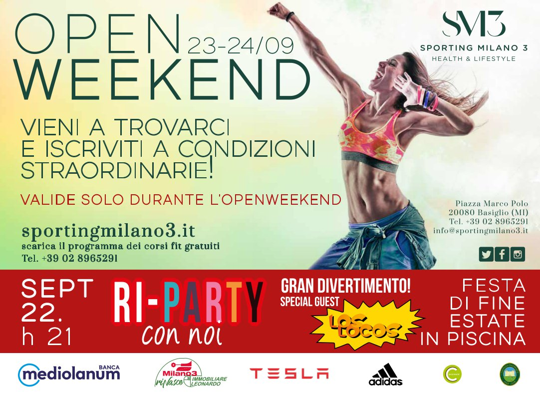 Open Weekend 23-24 settembre 2017