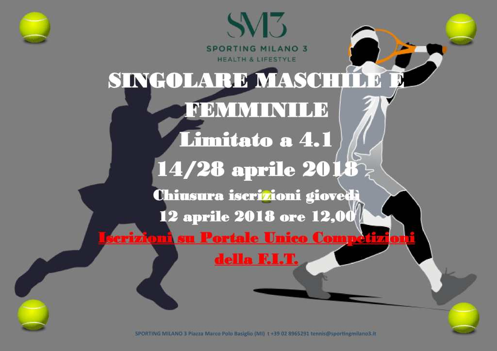 Torneo lim. 4.1 Crugnola 14 aprile 2018
