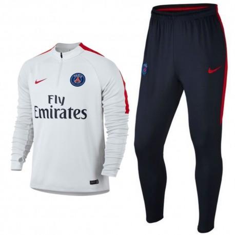 paris saint germain tech trainingsanzug 2016 17 weiss nike sportingplus net