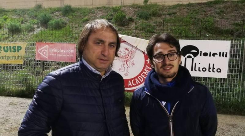 Lo staff Tecnico dell'Atletico Messina -Naccari e Caminiti