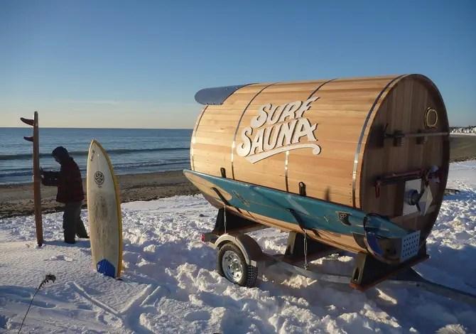 La sauna trasportabile per surfisti polari