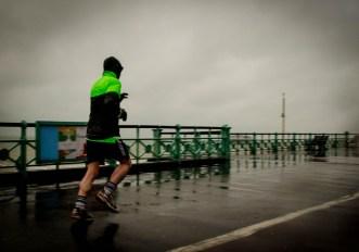 Correre con la pioggia