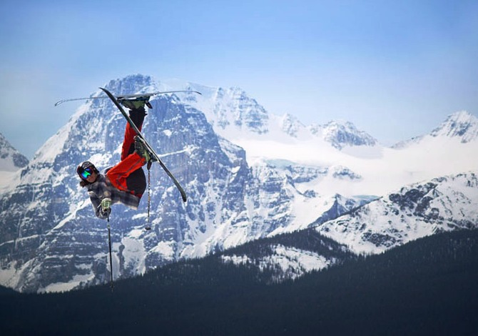 Matt Evans finds his freedom north of the boarder in the Canadian Rockies. Lake Louise, BC 2013 Credit: Valhalla Screengrab