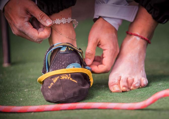 Scegliere scarpette arrampicata più adatte - Credits La Sportiva