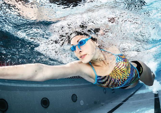 Costume nuoto intero donna piscina