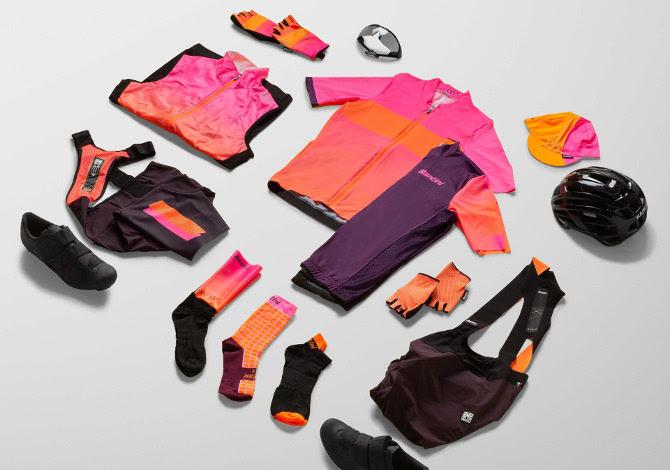 Santini Redux: la collezione uomo da ciclismo colorata e di design)