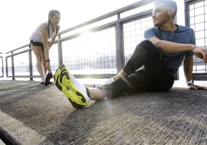 scarpe da running con la punta larga