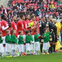 30.4.2017 / Praha / sport/ fotbal / 1. Liga / Slavia/ FK Jablonec/ Oslavy ziskani stadionu Slavie Eden cinskou spolecnosti /CEFC/ FOTO CPA