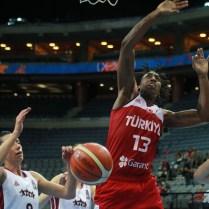 25.6.2017 / Praha / sport ú basketbal/ ME v basketbalu zen o 5. a 6. umisteni Litva Turecko Foto CPA