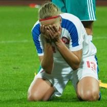 19.9.2017 / Usti nad Labem/ sport/ fotbal/ zeny /Cesko/ Nemecko/ kvalifikace na MS ve fotbale zeny 0 : 1 foto CPA