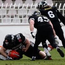 1.4. 2018 /Praha / sport / americky fotbal/ prazske derby /Prague Black Panthers - Lions / FOTO CPA