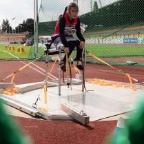 24.8.2018 /ME /atletika /Berlin /handicap / Muzikova Anna hod kuzelkou Foto CPA