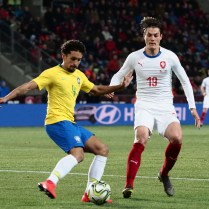 Czech Republic, Prague, friendly match Czech Republic : Brazil 1.3