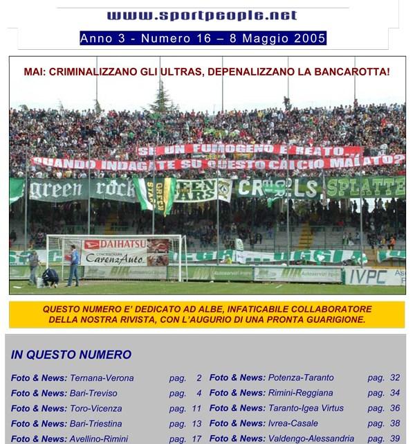 Copertina n° 2005-16