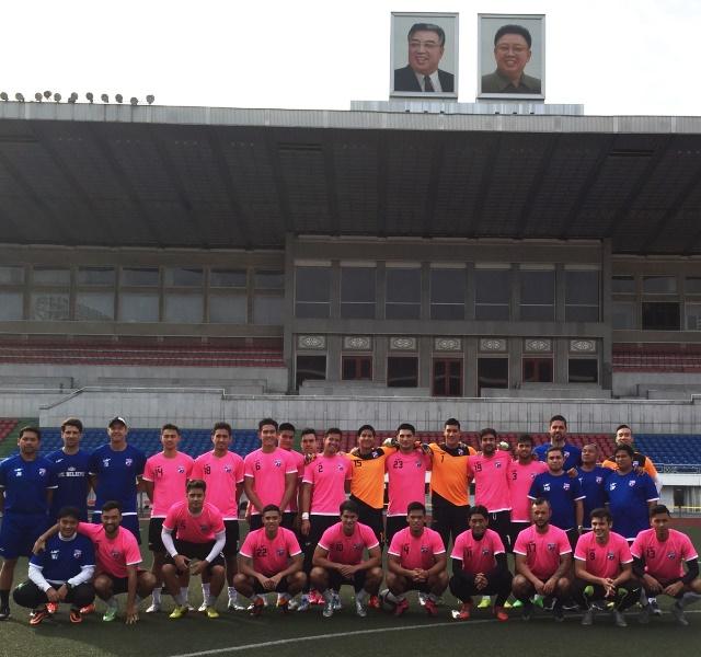 Azkals in Kim IlSung Stadium, North Korea | Photo by Karl Decena via Interaksyon.com