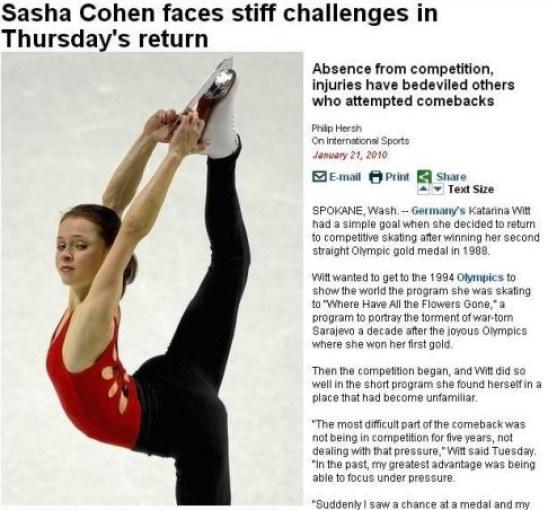 Sasha Cohen-Chicago Tribune