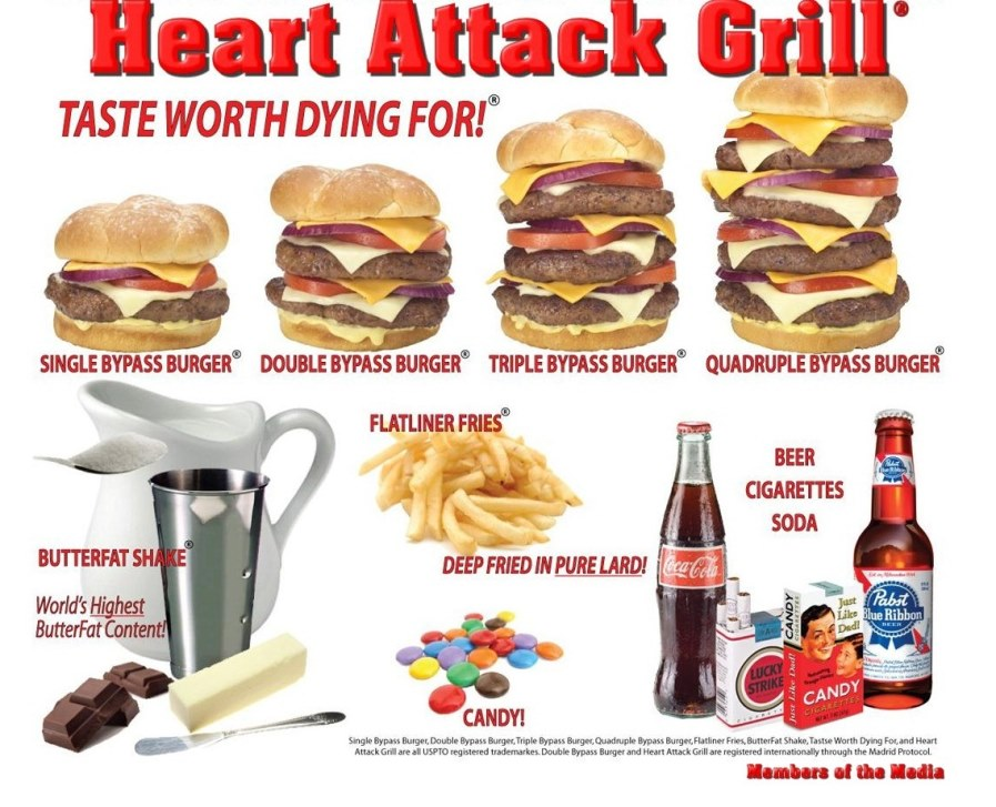 Off Topic: Get Me To The Heart Attack Grill For A Quadruple Bypass Burger,  Stat! - Sportress of Blogitude