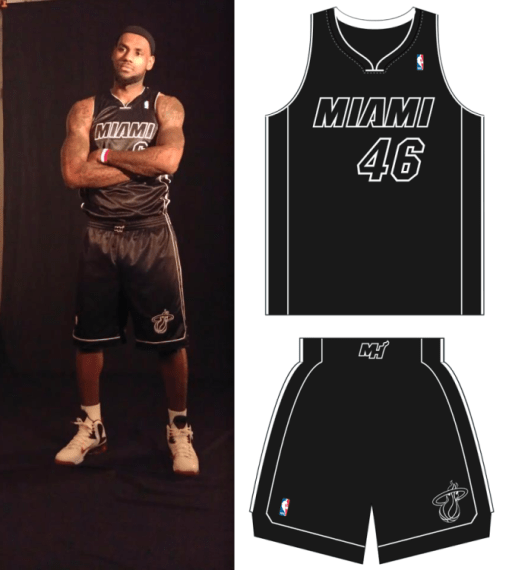 newest collection 2fb40 29924 Miami Heat Unveil All-Black Alternate Jersey During Media ...