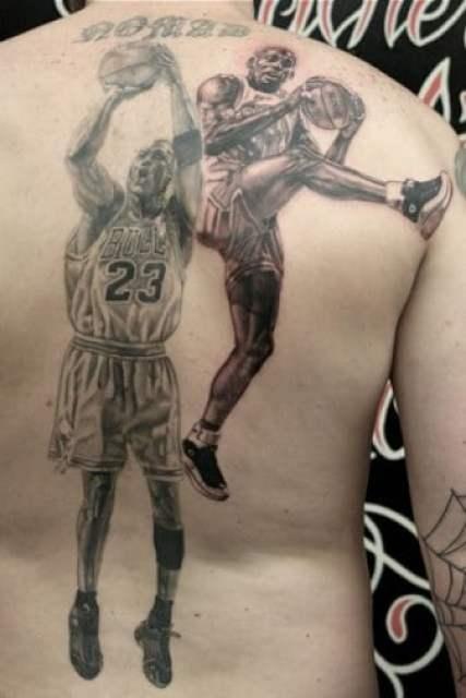 No Love For Pip Guy Gets Back Tattoos Of Michael Jordan
