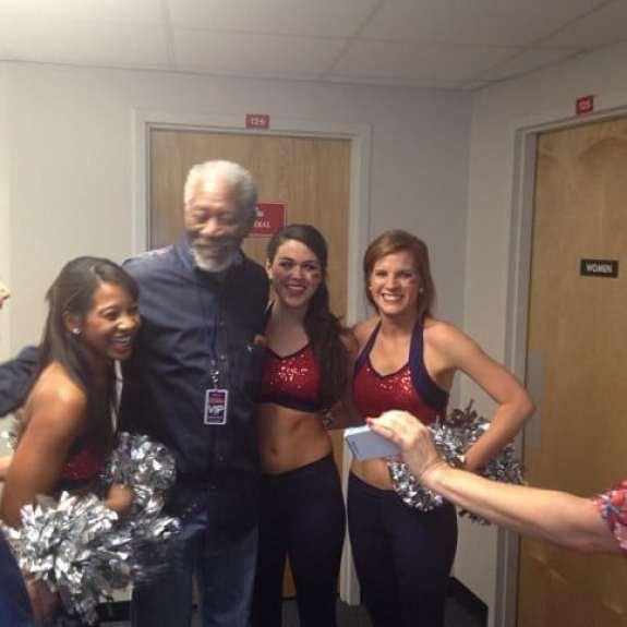 morgan-freeman-ole-miss-cheerleaders