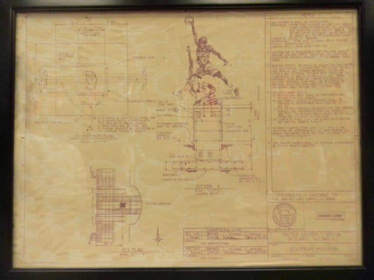 Blueprints for famous michael jordan sculpture for sale on ebay michael jordan sculpture blueprint 1 malvernweather Gallery
