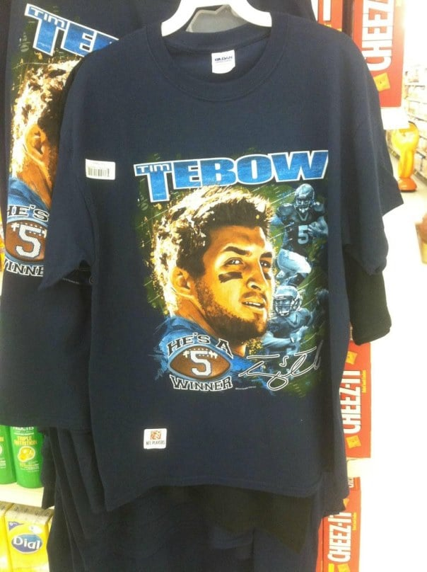 brand new cc1f3 131ac Behold, a new Tim Tebow shirt, bask in all its Tebowey ...