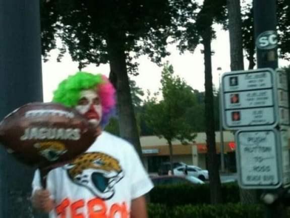 tim-tebow-clown-jacksonville-jaguars