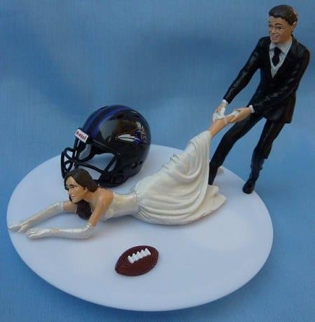 This Ravens Wedding Cake Topper Fortunately Is No Longer