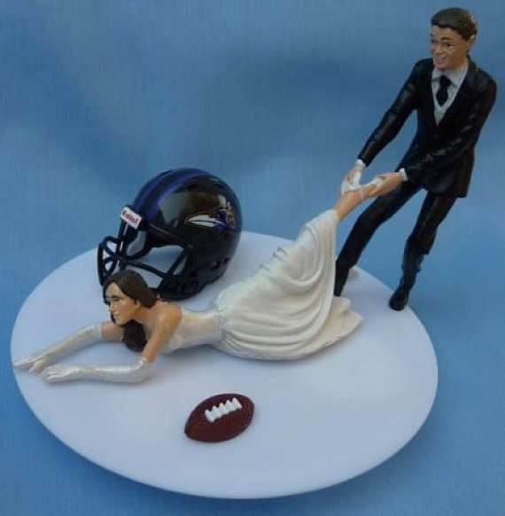 baltimore-ravens-wedding-topper