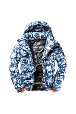 SUPERDRY SNOW COMMAND UTILTY HOOD JACKET BLACK ICE CAMO
