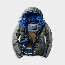 SUPERDRY SNOW - DARK ELEMENTS HOODED JACKET - ABYSS KHAKI -ú179.99