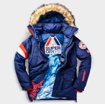 SUPERDRY SNOW - EVEREST DOWN JACKET - NAVY -ú164.99