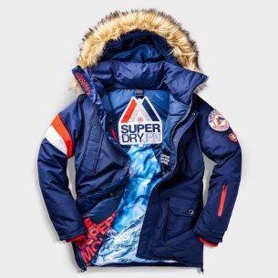 SUPERDRY SNOW - EVEREST DOWN JACKET - NAVY -ú164.99