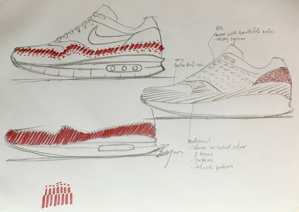 02_Nike Air Max 1 Ultra Flyknit_Ben Yun_Sketches_21072016