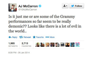 2014 Grammys are evil