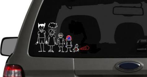 Stick Figure X-Men Family