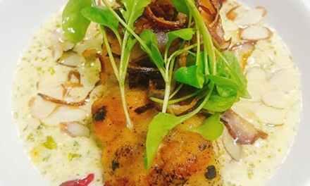 Mero en Salsa Cremosa de Nueces y Brócoli
