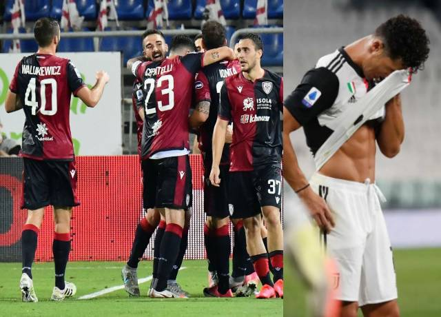 Cagliari beats Juventus 2-0, Ronaldo's hopes of finishing Serie A's top scorer