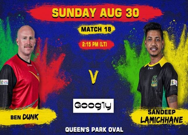 CPL 2020, 18th Match : SNP vs JT live score & streaming