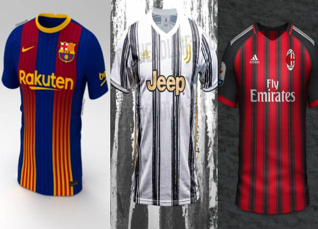 All top football clubs new home and away kits/jersey for 2020-21 season